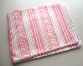 pink floral stripe ticking vintage pillow cover