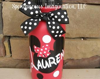 SALE  Minnie Mouse Sport Water Bottle- Children Gift Ideas