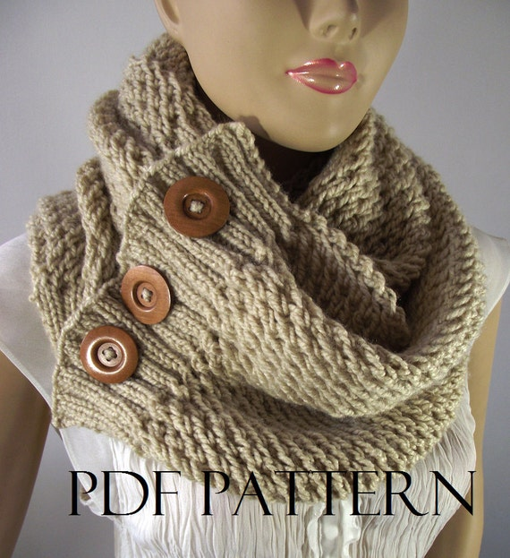 Knitting Patterns For Big Scarves : KNITTING PATTERN SCARF Big scarf patterns LouLou Scarf Cowl