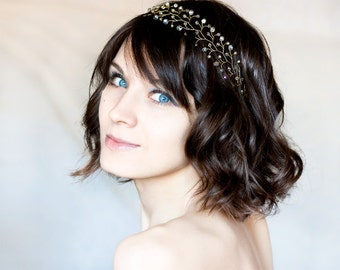 11_Gold crown, Crystal crown, Hair accessories, Crown crystals, Wedding hair accessories, Crystal headband Gold wedding Crystal tiara Diadem