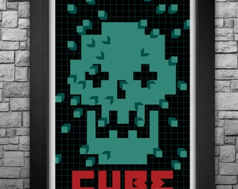 """CUBE limited edition 11x17"""" art print movie poster"""