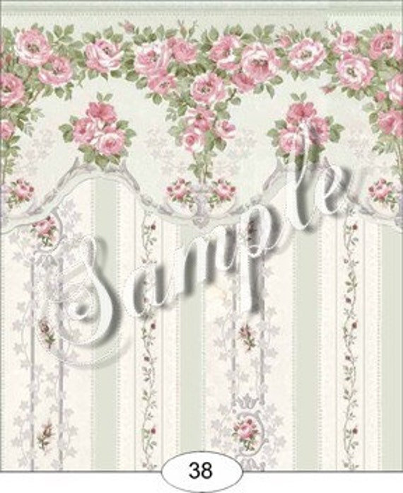 Bliss Dollhouse Wallpaper: Items Similar To Dollhouse Miniature Dolls House Wallpaper