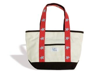 Tote Bag Canvas Starfish Design-Jynell Designs