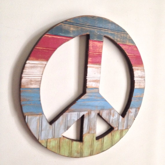 Rustic Home Decor Peace Sign