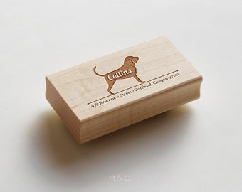 Bloodhound - Personalized Stamp