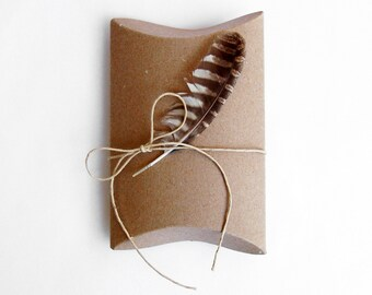 small gift box, natural box, kraft box, pillow box, gift boxes, natural decor, gift wrapping, ecofriendly packaging, recycled packaging
