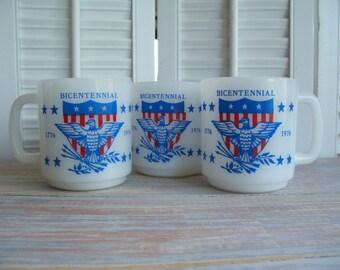 Glasbake Bicentennial mugs- Free Shipping