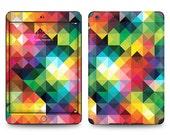 Apple iPad Air 2, iPad Air 1, iPad 2, iPad 3, iPad 4, and iPad Mini Decal Skin Cover  - Colorful Kaleidoscope