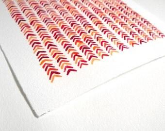 Chevron watercolor pattern - Art print