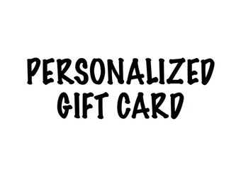 Personalized Note to Include with Purchase