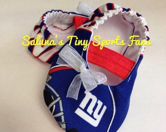 NY Giants Baby Maryjane Booties