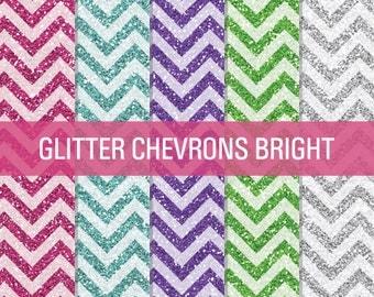 Bright Glitter, Chevron Glitter, Digital Papers, Glitter Digital, Glitter Papers, Glitter Textures, Glitter Backgrounds