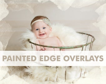 80% OFF Sale Photo Overlays Transparent Painted Edge Grunge Photography Textures