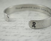 Survivor/Gift  Secret Message Hand Stamped Bracelet- Personalized Bracelet