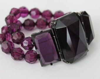 Vintage Bracelet Purple Costume 90s