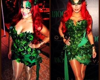 Poison Ivy Kim Kardashian Costume short mini dress Guaranteed before Halloween