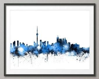 Toronto Skyline, Toronto Canada Cityscape Art Print (1117)