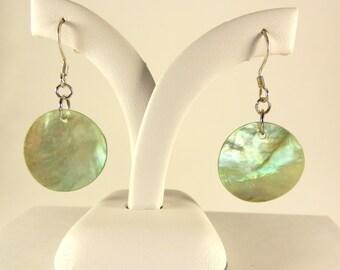 Lime Green Shell Earrings