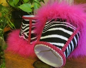 Zebra Girls Room Decor Mini Lamp Shade