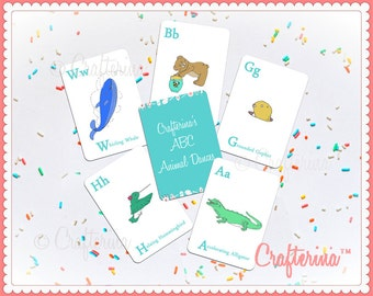 ABCs of Animal Dances II Flashcards - Printable PDF- DIY Craft Kit - Party Favor- Child Toy - Play & Pretend - Ballet