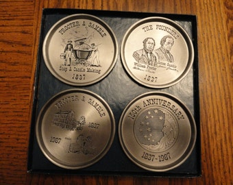 Proctor and Gamble, P&G, 150th Anniversary coasters, still in box