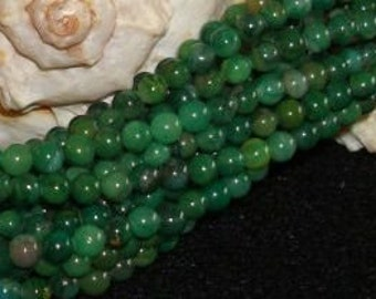 "African Jade - 4mm smooth round - 15"" strand"