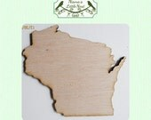 Wisconsin State (Medium) Wood Cut Out - Laser Cut
