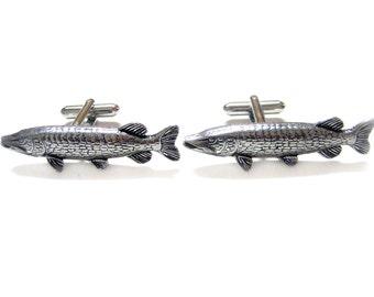 Pike Fish Pendant Cufflinks