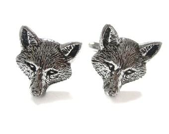 Fox Head Pendant Cufflinks