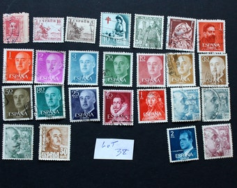 25 Vintage Stamps from Spain (lot 38)