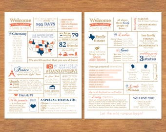 Info Graphic Wedding Program