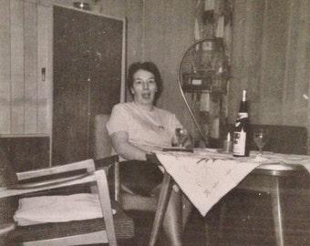 Original Antique Photograph A Little Too Much Wine