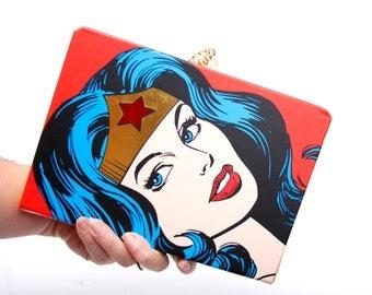 Book Clutch Purse- Wonder Woman