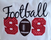 Football Sister T-Shirt - Bling Sparkle Football Applique - Personalized Embroidered - Custom Team Shirt