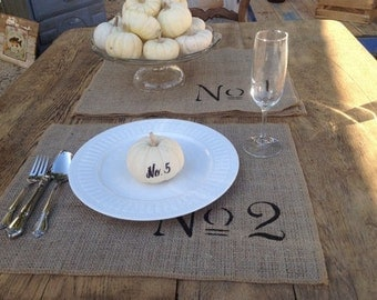 Set of 8 Burlap Place Mat