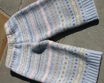 Upcycled Wool Longies / Pants - Size 12 -18 Months - Medium