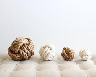 Knot Medley / mix of 7 cotton + manila knots