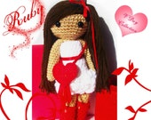 Crochet Doll - Ruby -Secret Message Valentine's Day Doll