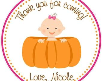 Pumpkin Favor Tags - Pumpkin Shower Favor - Pumpkin Birthday Favor - Pumpkin Party  - Pumpkin Baby Shower Favor