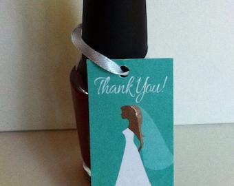 Bridal Shower - Nail Polish Favor - Printable File - YOU PRINT.