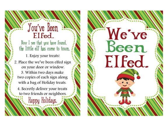 Inventive image within you ve been elfed printable