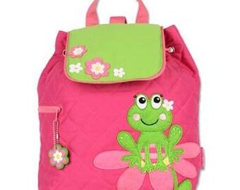 Personalized Girl Frogie Backpack, Stephen Joseph backpack