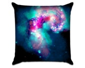 """Galaxy (1) - Photo Sofa Throw Pillow Envelope Cover for 18"""" inserts"""