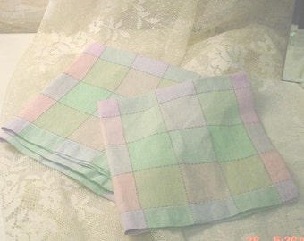 Napkins Spring Colors Vintage Beach Cottage Chic