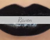 "Black Lipstick Sample - ""Raven"" (opaque black lipstick color, vegan) natural lip tint, balm, lip colour"