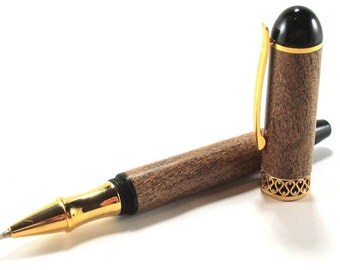 Mequite Pen - Apollo Infinity Design with Gold Accents