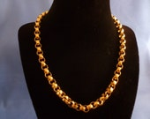 Beautiful Gold Toned Box Chain Necklace.
