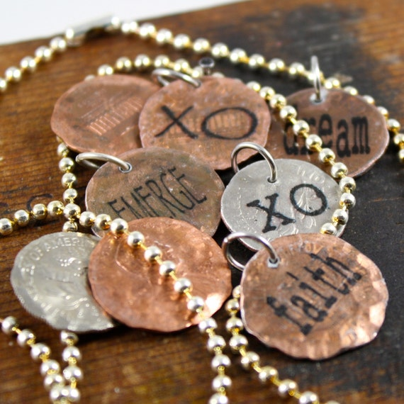 Personalized penny charm create your own good by for Create your own penny