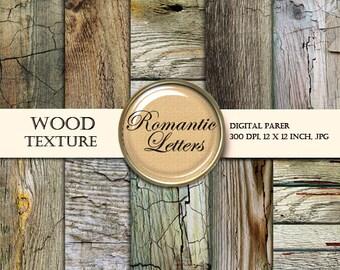 Wood Texture digital scrapbooking paper pack  Scrapbook Paper digital newborn photo backdrop wooden background