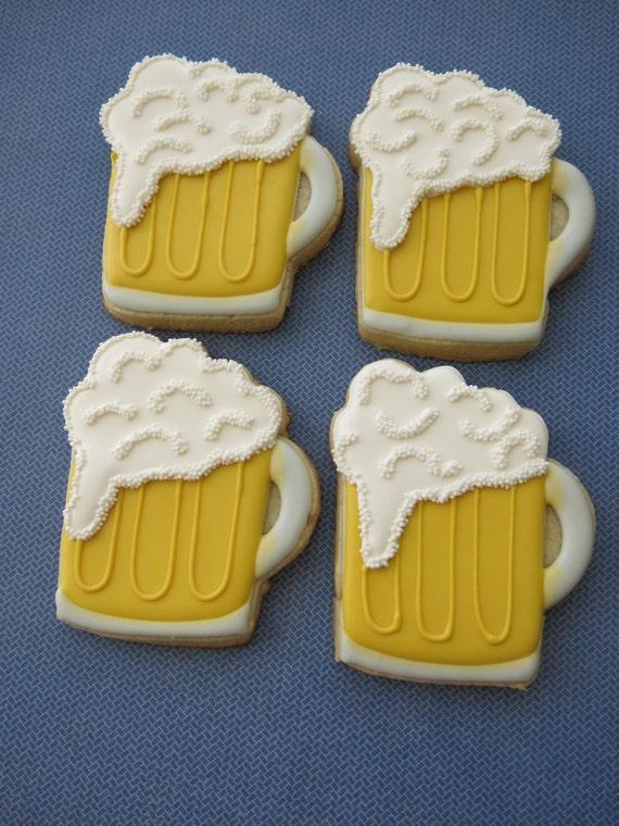 Beer Mug Sugar Cookies 1 Dozen by ParadiseSweets on Etsy